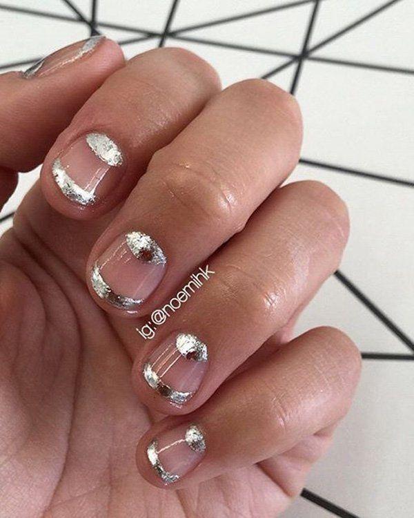 50 half moon nail art ideas silver nail moon nails and nail 50 half moon nail art ideas sciox Choice Image