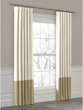 Color Block Drapery Panel In Ivory Oyster Linen Curtains New York Loom Decor
