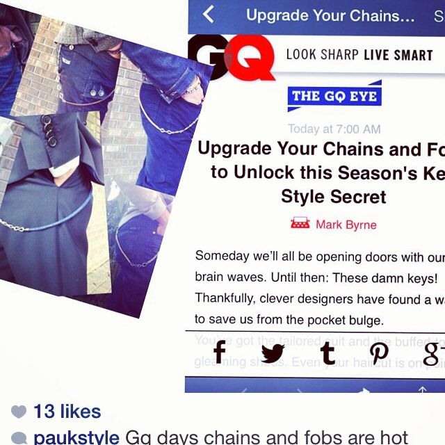 #trouserchains a hot trend says gq