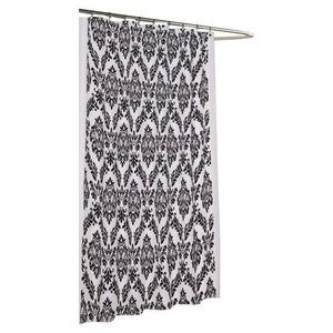 Carnation Home Fashions Regal Polyester Fabric Shower Curtain With Flocking