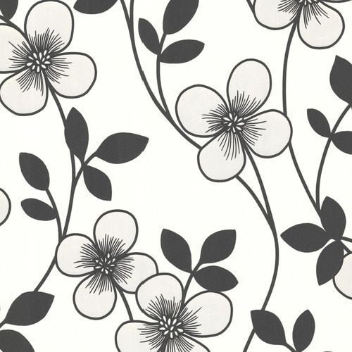 Decorline By Brewster 2533 20230 Elements Freud Black Blossom Trail Wallpaper Brewster Wallcovering Classic Wallpaper Floral Wallpaper
