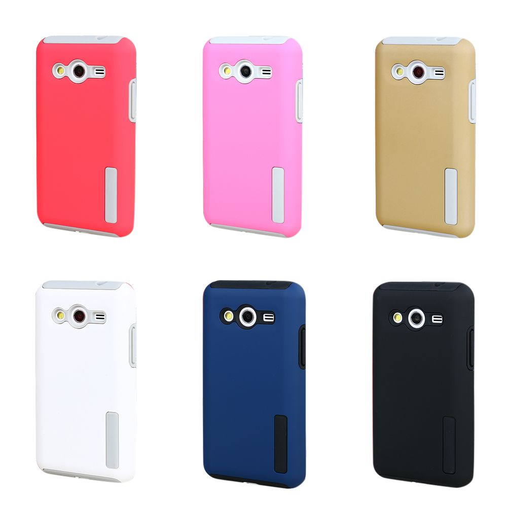 2 in 1 Colorful Hybrid Rugged Rubber Armor Case For Samsung Galaxy Core 2 Core2 G355H G355 Hard PC+TPU Anti-knock Cover     GE01