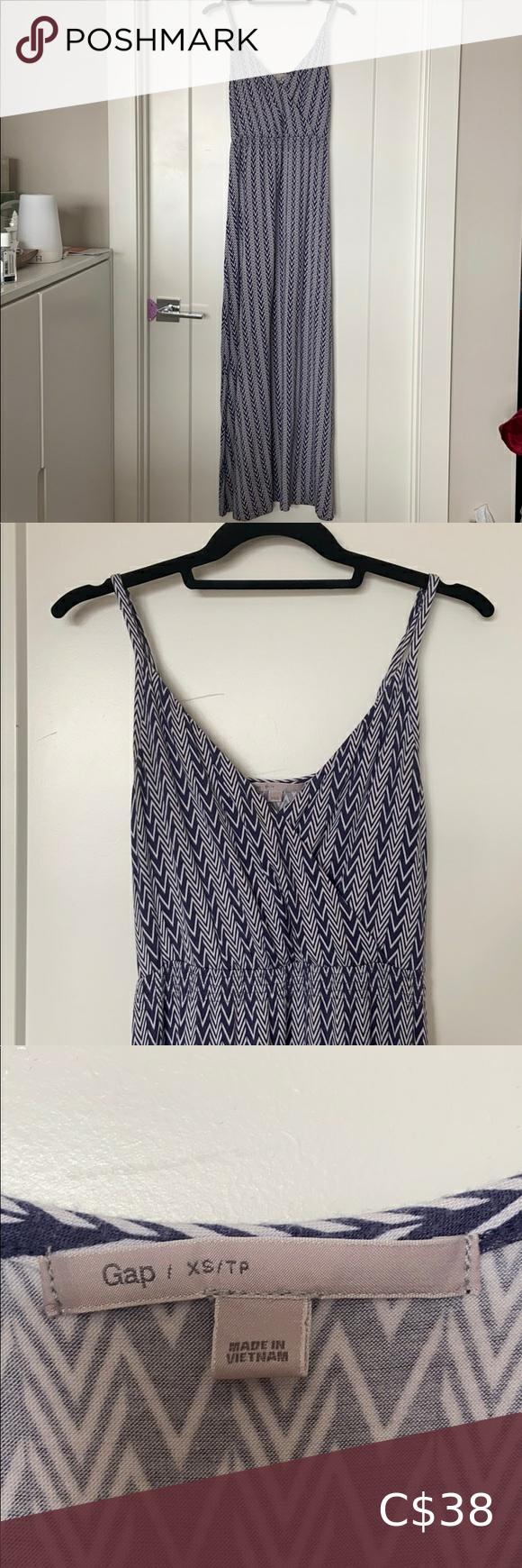 The Gap Maxi Dress Xs Gap Maxi Dress Blue White Maxi Dress Maxi Dress [ 1740 x 580 Pixel ]