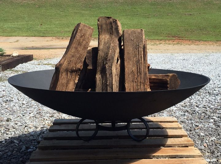 Safari Pit The Large 40 Inch Cast Iron Fire Pit Bowl With Stand Makes A Great Addition To Your Outdoor Collection M Fire Pit Cast Iron Fire Pit Iron Fire Pit