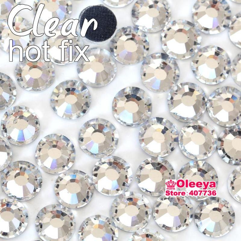 Crystal Clear HotFix Diamantes GLASS Rhinestone DMC Quality Flat Back