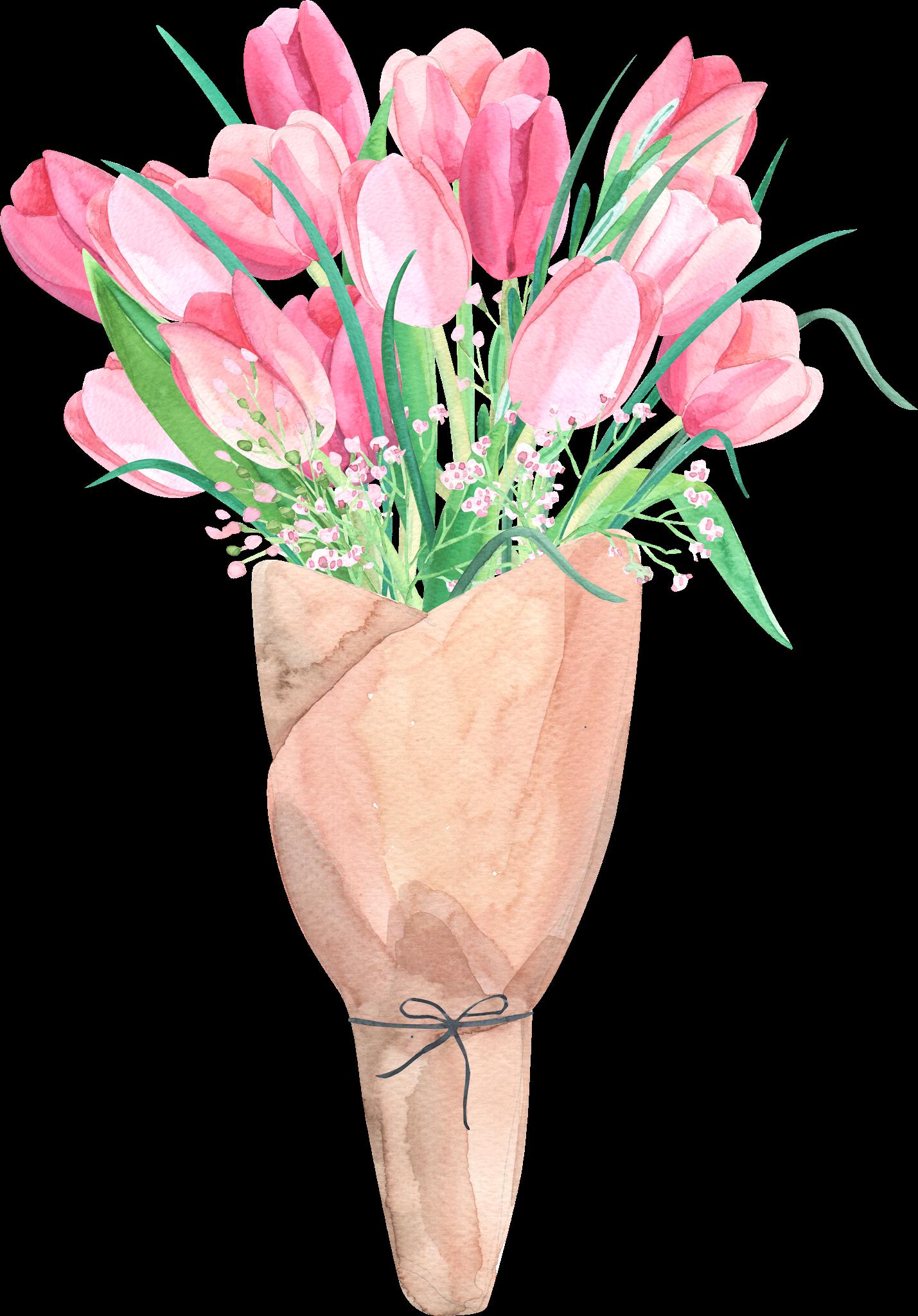Tulip Flower Bouquet Clip Art Tulip Gift Flower Bouquet Box Flower Bouquet Boxes Tulips Flowers Flowers