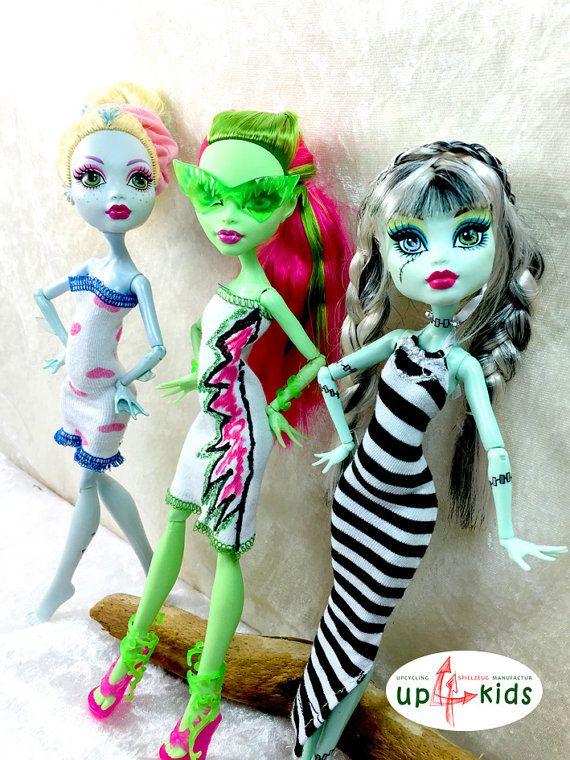 Monster Kleider Set 36 6815012 für z.B. Monster High, Ever After High und Puppen ähnlicher Größe Modepuppe Puppenkleider Puppenmode ghoulia