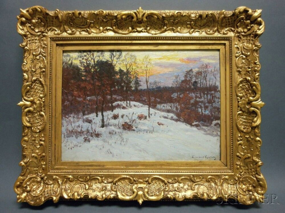 a boston made frame by foster brothers for a boston artist john joseph enneking