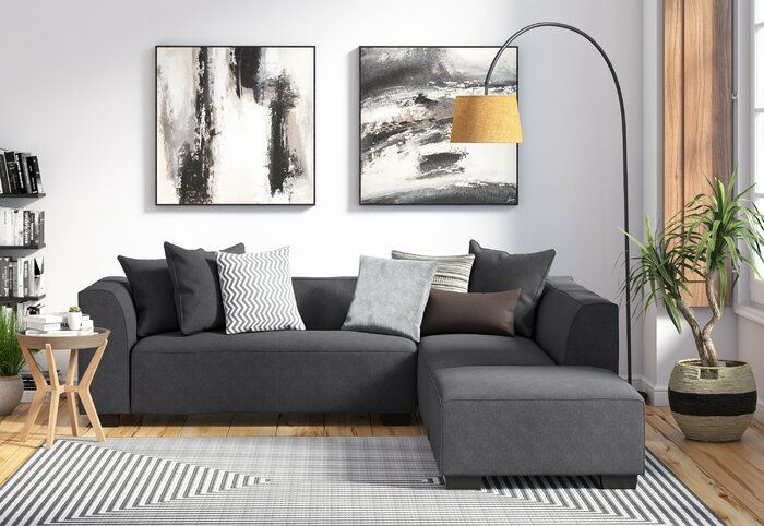 Tucker Modular Sectional With Ottoman In 2020 Living