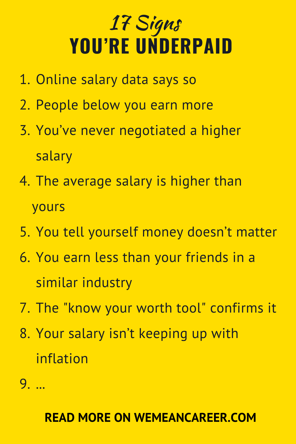 Signs You're Underpaid Told you so, How to know, Working