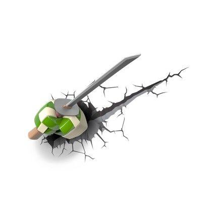 Teenage Mutant Ninja Turtles 3D Wall Nightlight - Leonardo Weapon, Green