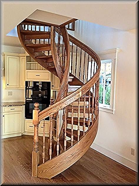 Amazing Wooden Spiral Staircase Plans Construction Pictures 20