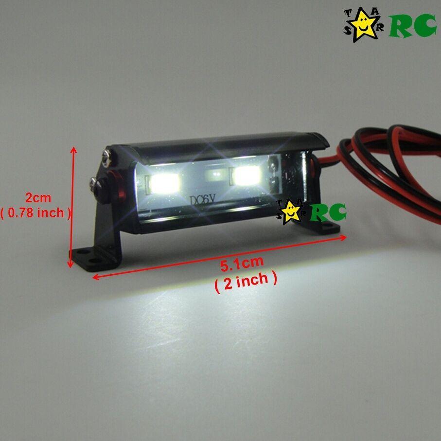 RC 1//10 Aluminum LED Light Bar 6 ~ 7.4V W// JR Plug F TAMIYA AXIAL RC4WD Crawler