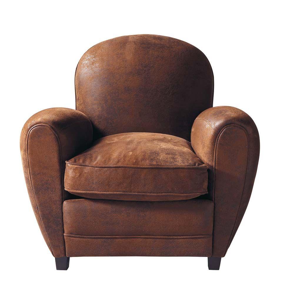 fauteuil club en microsu de marron pinterest arizona fauteuil club et fauteuils. Black Bedroom Furniture Sets. Home Design Ideas