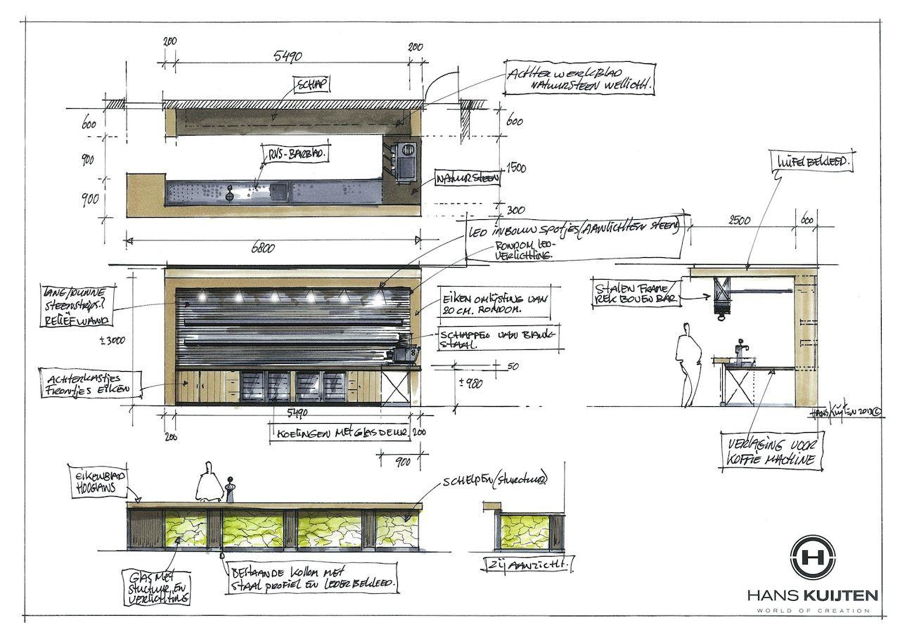 Hans Kuijten Cafe Design Pinned By Mel MessebauInnenarchitekturSkizzenEinrichten