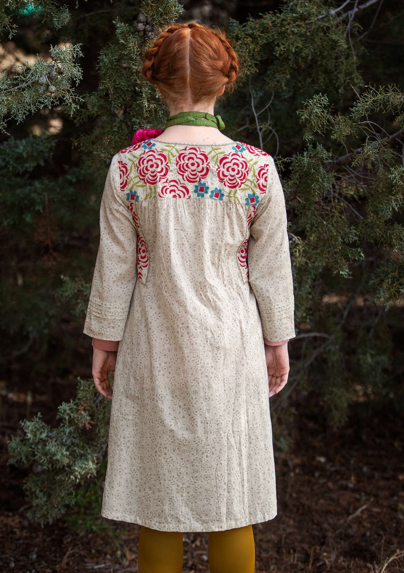 "Kleid ""Kristina"" aus Öko-Baumwolle kittgrau   Tuch ..."