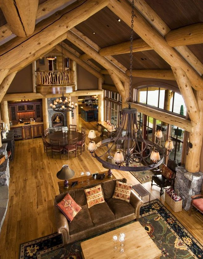 Rustic Design Ideas Log Homes Farmhouse Rustic Home Decor Cabin Interior Design Log Cabin Interior Cabin Interiors
