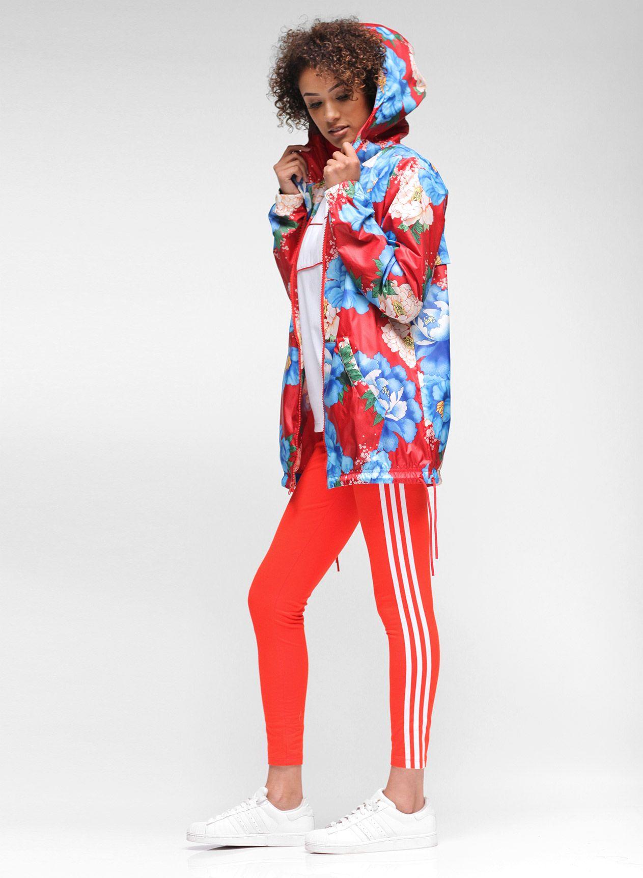 4342688c360 adidas Farm Chita Windbreaker, 3-Stripes Leggings, and Superstar Sneakers