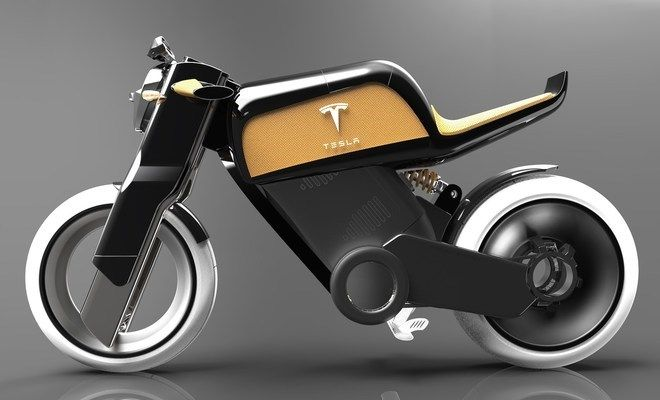 What Do You Think About This Tesla Electric Motorcycle Concept