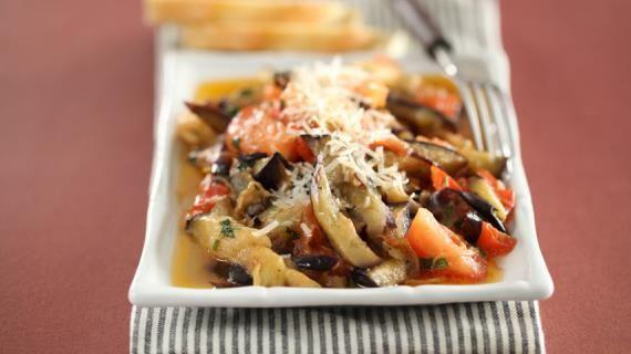 Жареные баклажаны с помидорами | Рецепт (с изображениями ...