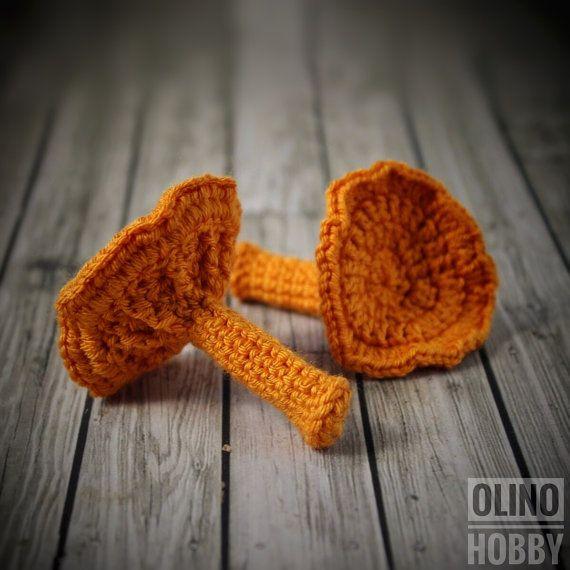 CHANTERELLE MUSHROOM Crochet Pattern PDF Crochet mushroom