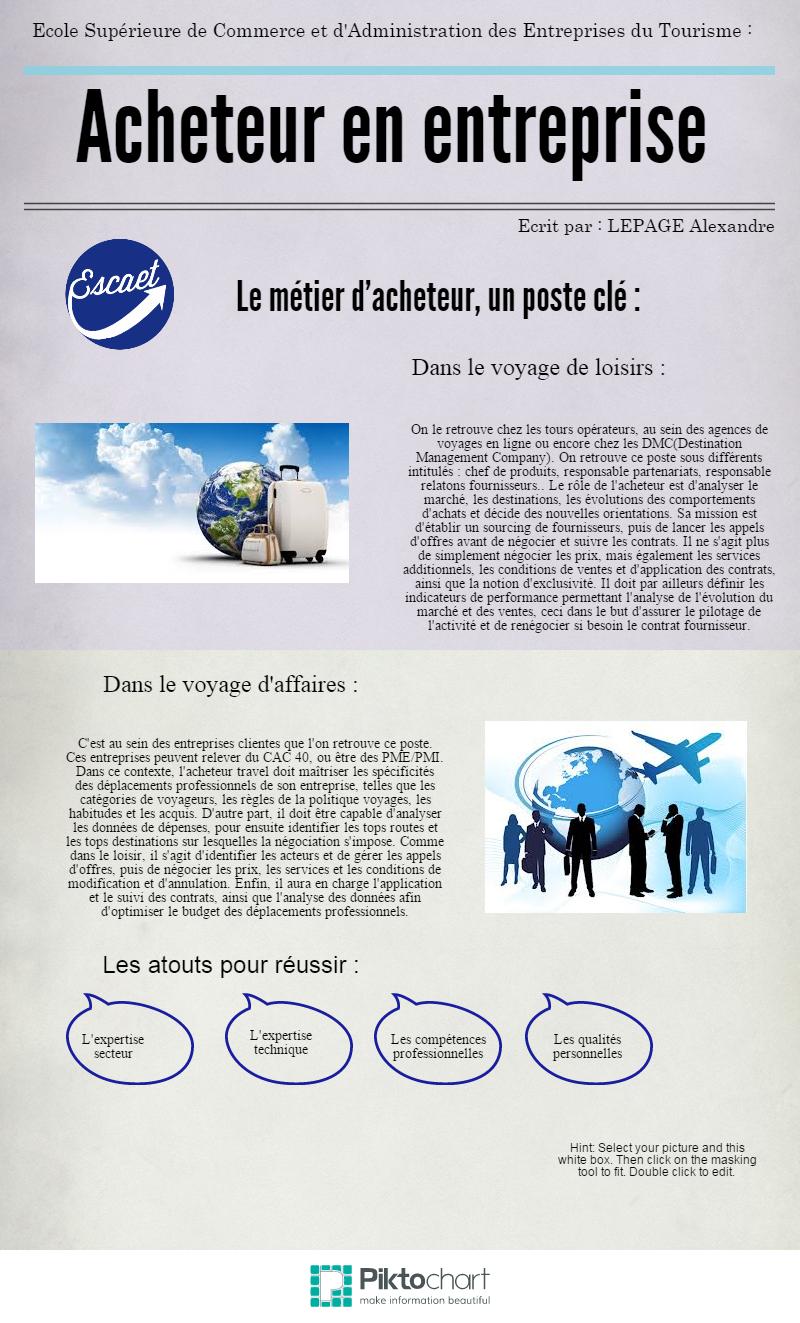 Acheteur En Entreprise Un Poste Cle Tourisme Ecole Superieure Voyage D Affaires