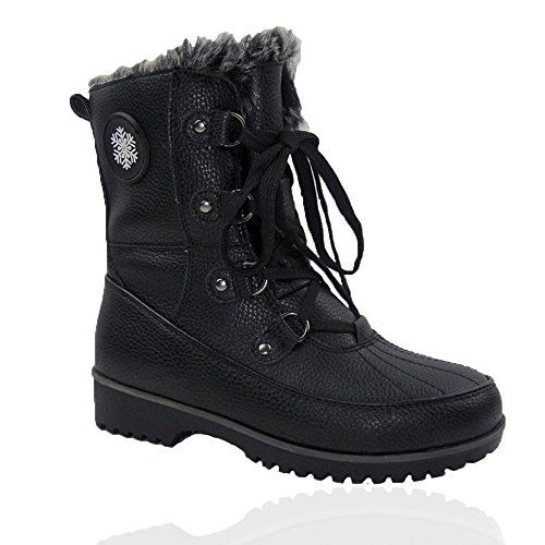 Comfy Moda Womens Winter Snow Boots Buffalo 612 11 Black ** Be sure to check out this awesome product.