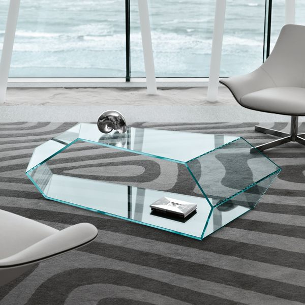 Tonelli Dekon 2 Glass Coffee Table Contemporary Living Room Furniture Furniture Design Modern Glass Furniture Modern Glass Coffee Table