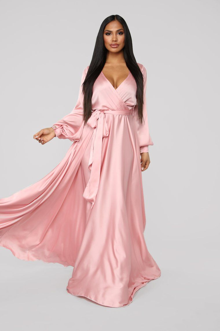 6db563be53 Find Me In My Mansion Satin Maxi Dress - Dusty Pink in 2019 | Garvey ...