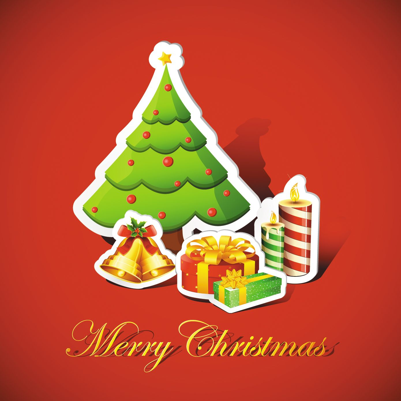 Free Vector Beautiful Christmas Background Graphic Available For Download At 4vector Check