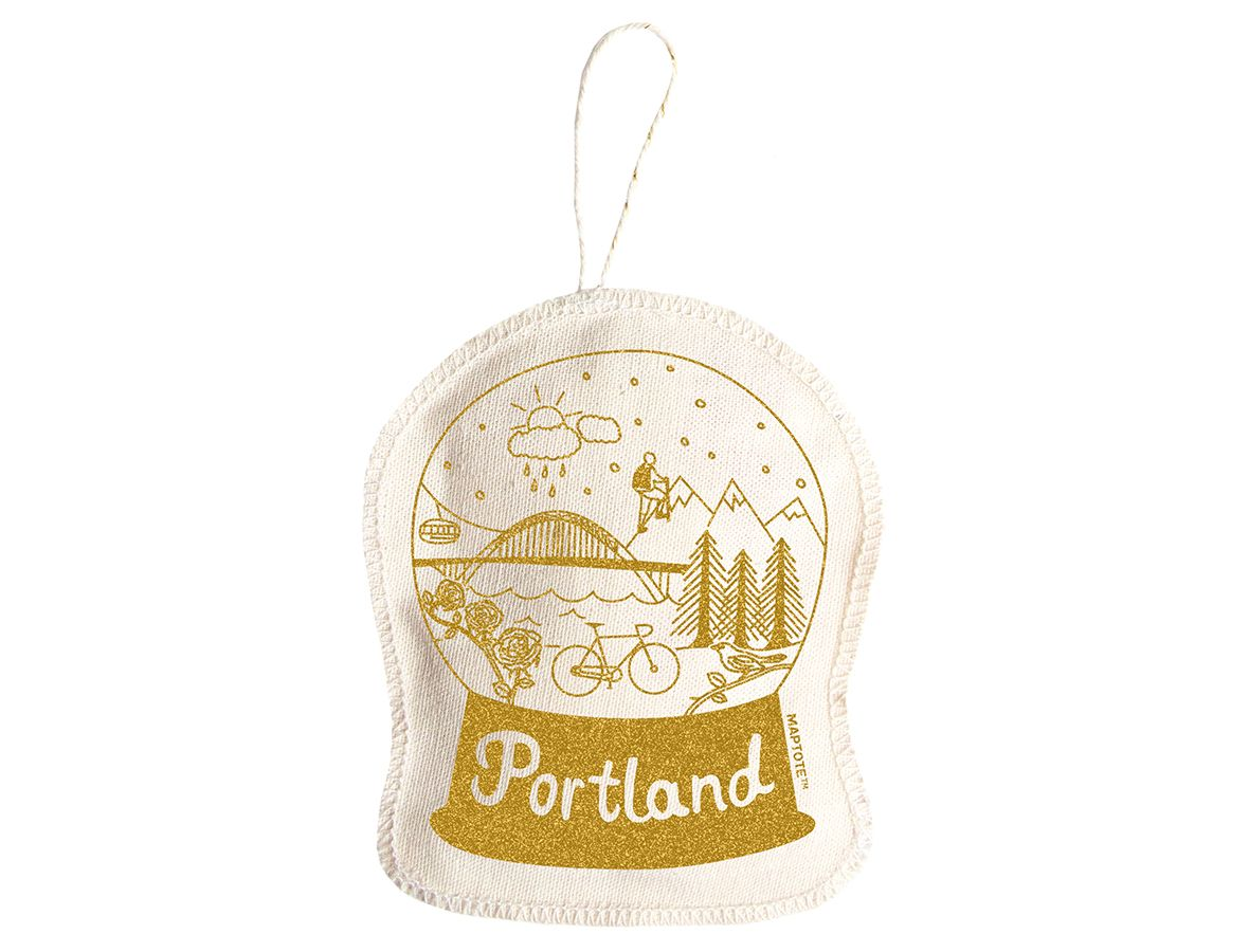 Maptote | Portland Ornament Gold (With images) | Ornaments ...