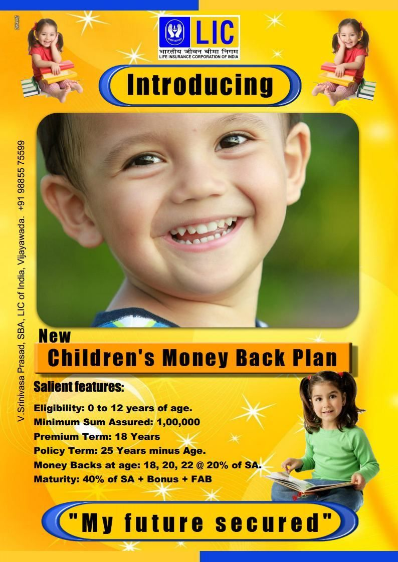 Lic Children Money Back Plans Life Insurance Marketing Life