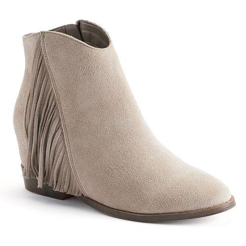 Mudd® Women's Fringe Hidden Wedge Ankle Boots #Kohls   Let's Get ...