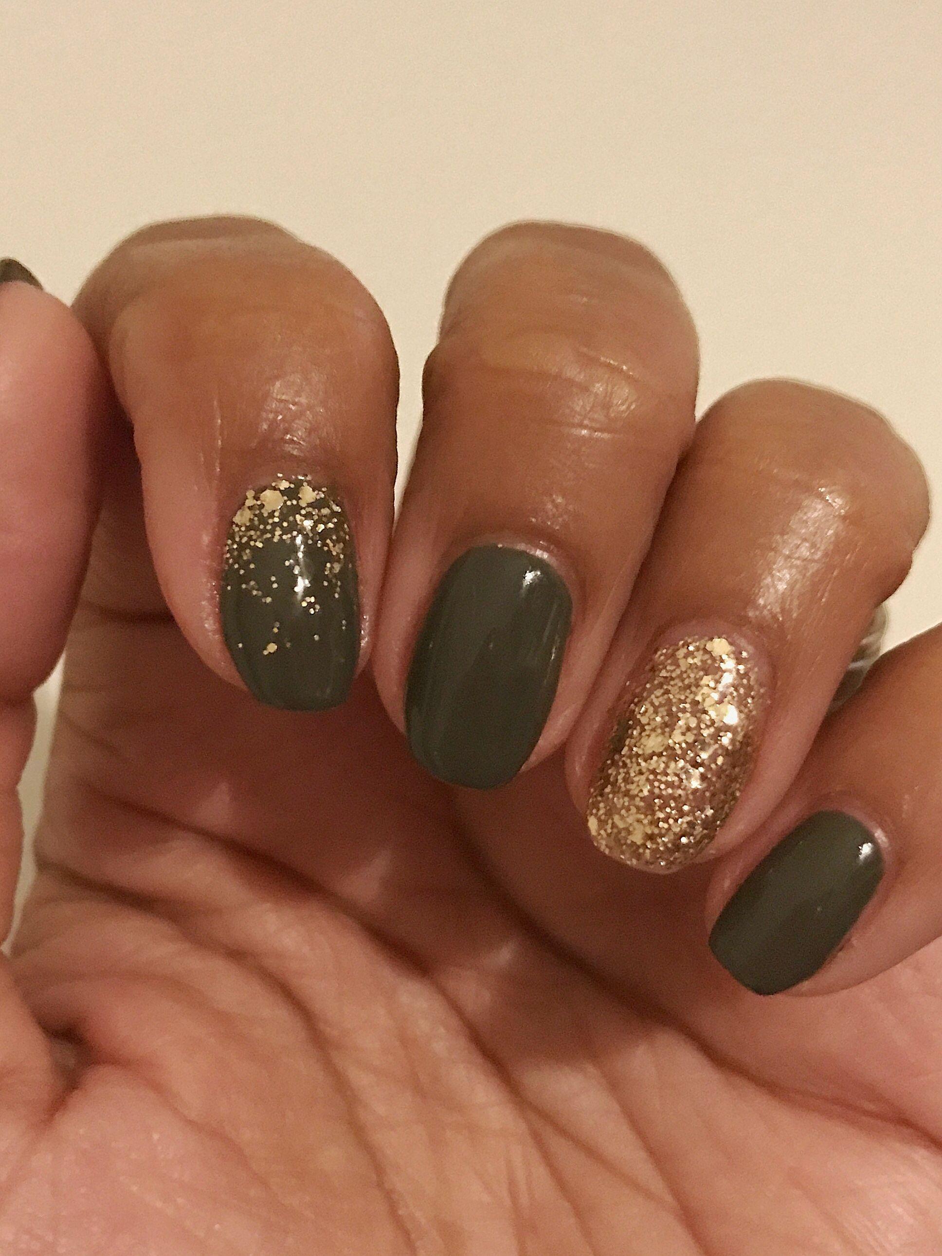 Bluesky Khaki Drab Wf04 Luxury Gold Nails Luxury Nails Nail