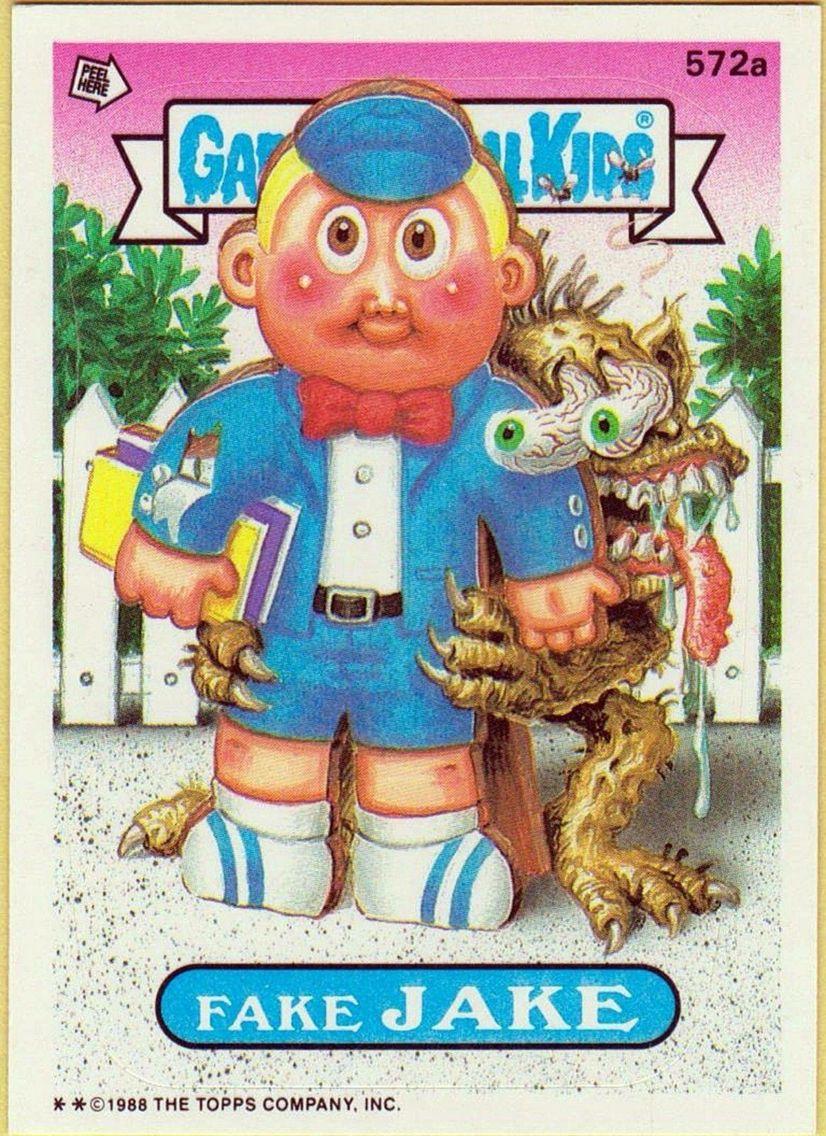 Fake Jake Garbage Pail Kids Garbage Pail Kids Cards Kids Stickers