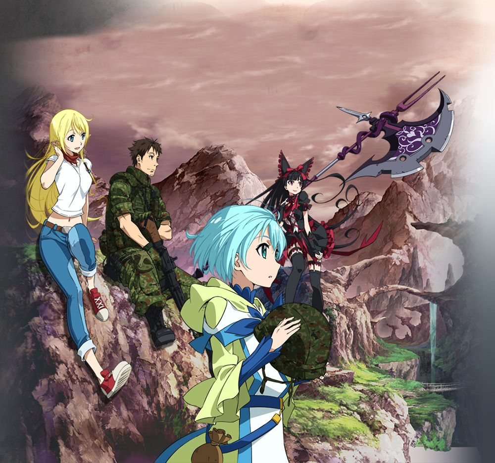 Gate Jieitai Kanochi Nite Kaku Tatakaeri Tv Anime Air Date Visual Revealed Haruhichan Anime Anime Dubbed Samurai Champloo