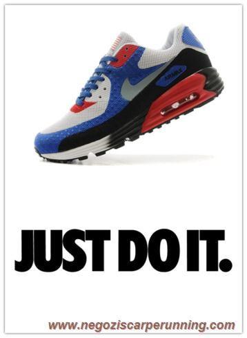 Uomo Nike Air Max 90 HYP PRM Blu Bianco Nero migliori scarpe