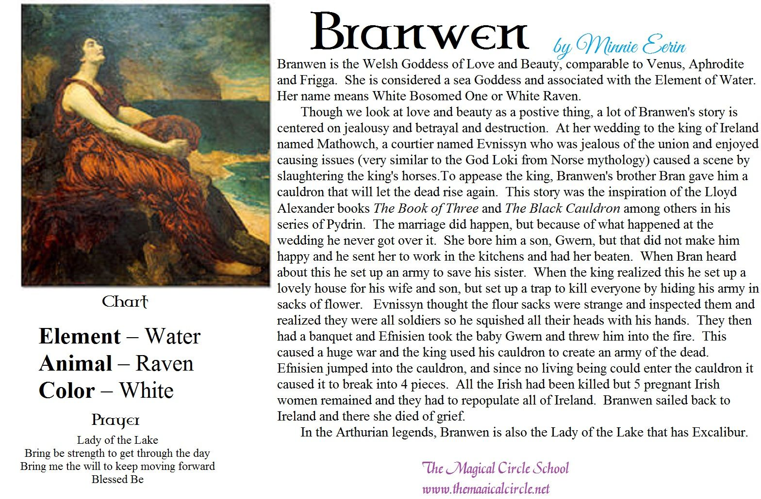 Branwen by Minnie Eerin The Magical Circle School www