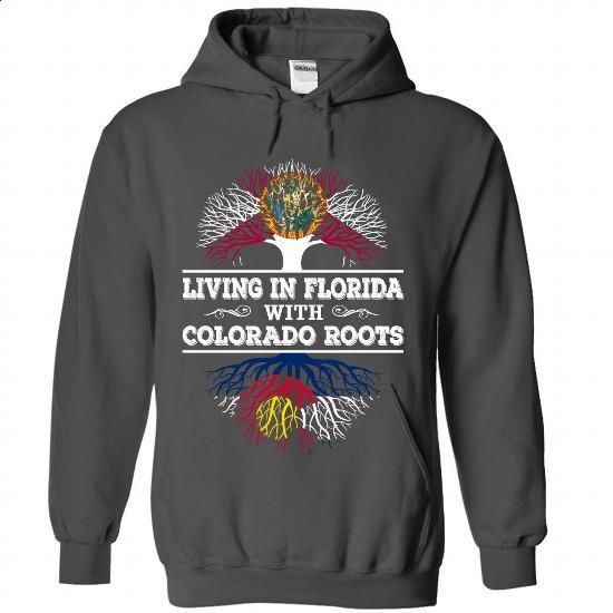 Living in Florida with Colorado Roots - #hoodie outfit #sweatshirt jeans. BUY NOW => https://www.sunfrog.com/LifeStyle/Living-in-Florida-with-Colorado-Roots-9363-Charcoal-Hoodie.html?68278