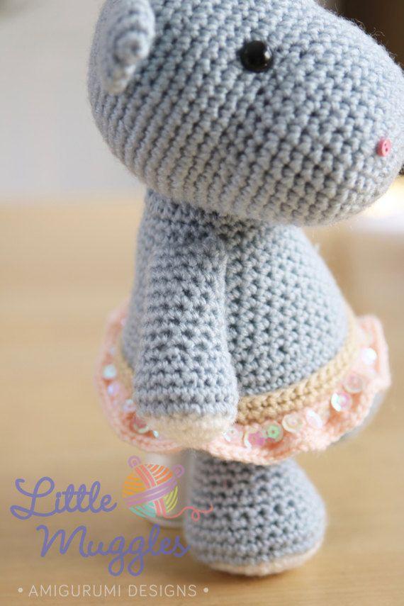 Amigurumi Crochet Pattern - Hanna the Hippo   Hipopótamo, Crochet ...