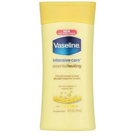 Vaseline Intensive Care Essential Healing Body Lotion 10 Oz Walmart Com Healing Lotion Healing Dry Skin Moisturizing Body Lotion
