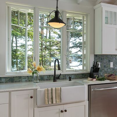 Andersen 400 series casement window florida house for House plans with kitchen sink window