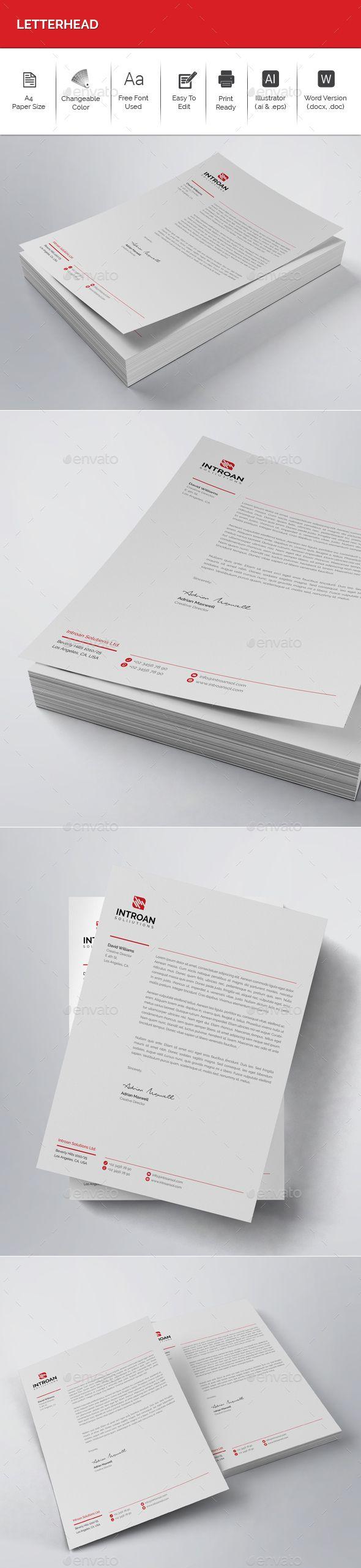 Letterhead letterhead template stationery printing and print letterhead spiritdancerdesigns Images