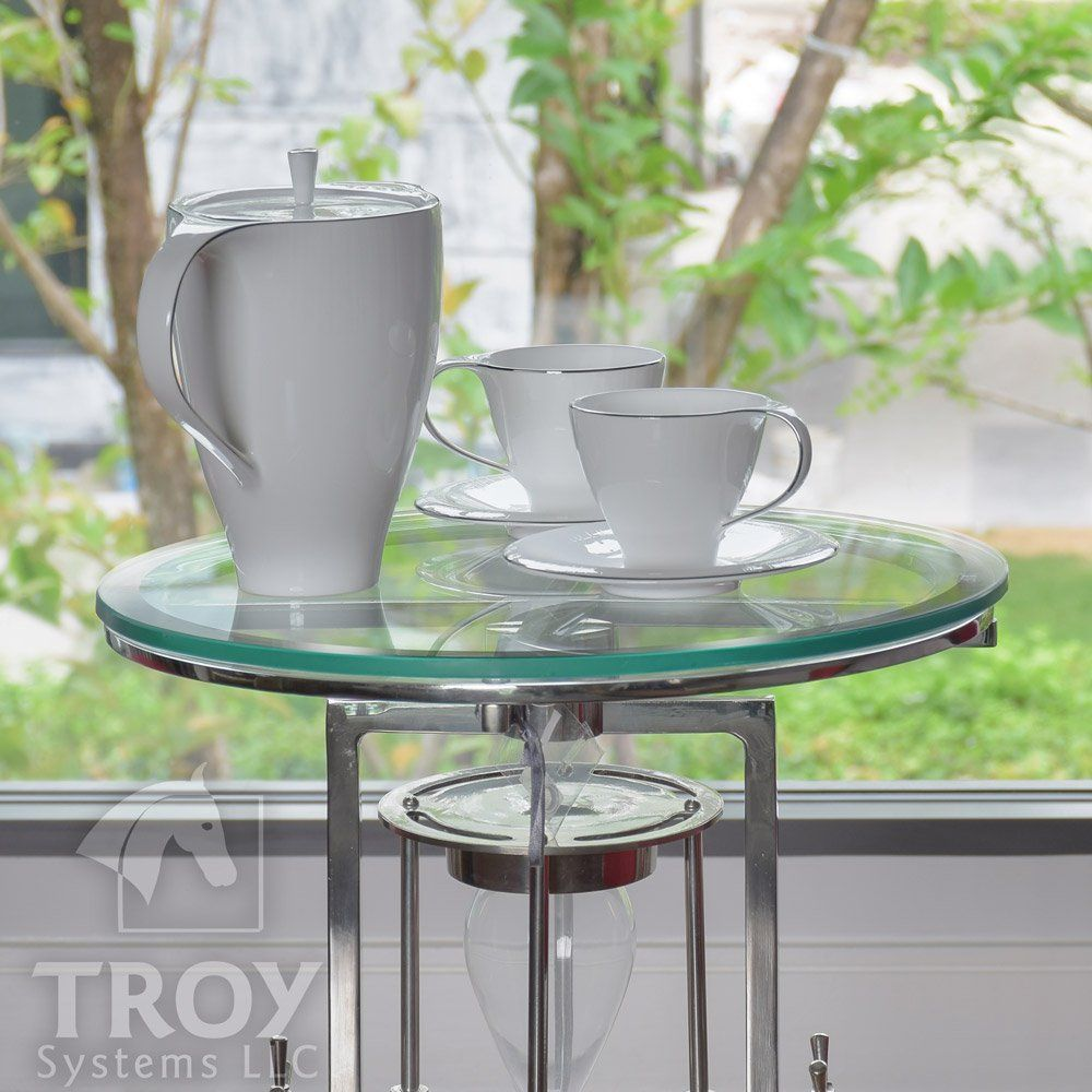 Troysys Round Glass Table Top Clear Tempered 1 2 Thick Glass With Beveled Polished For Dining Table Cof Round Glass Table Top Round Glass Table Glass Top Table [ 1000 x 1000 Pixel ]