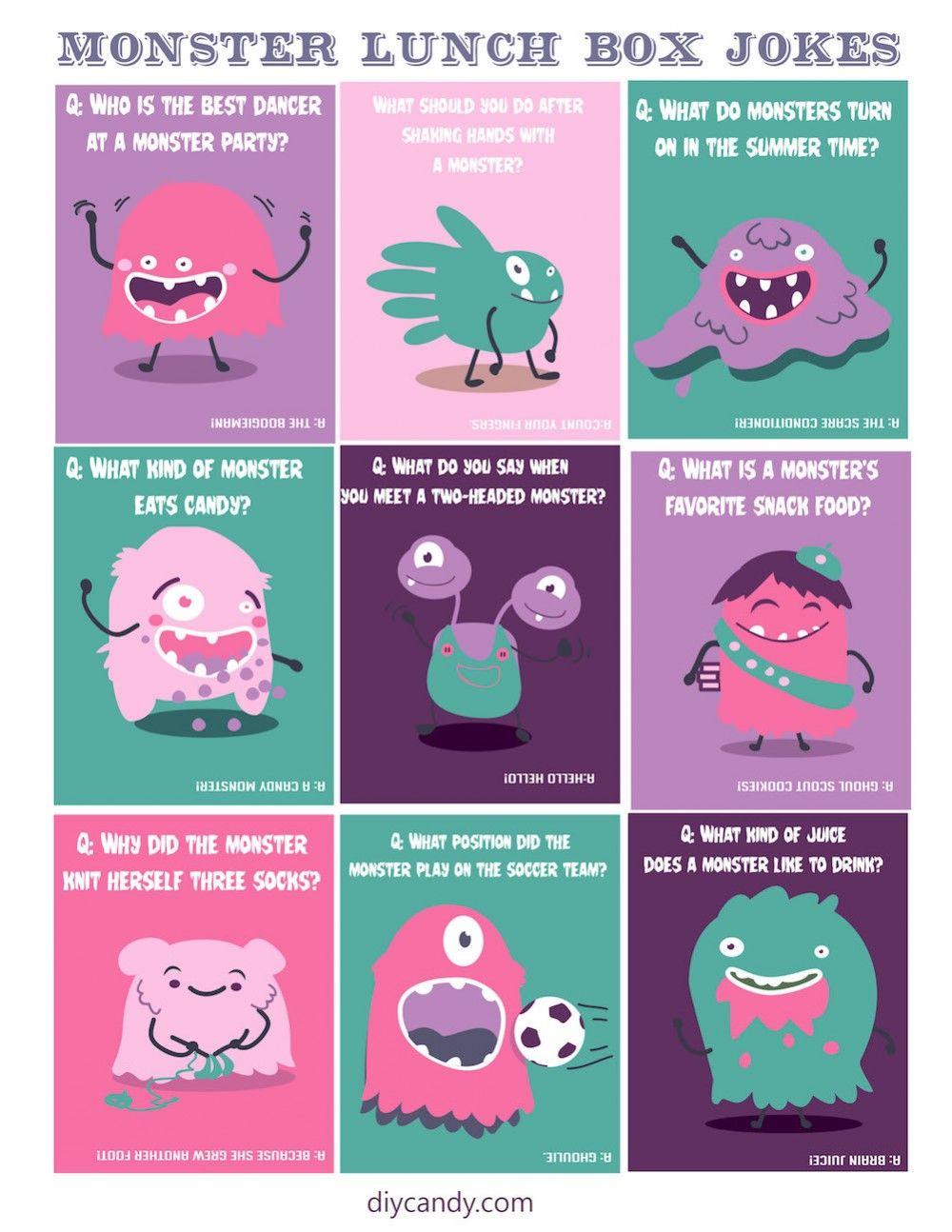 Cute Monster Lunch Box Jokes