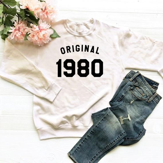 8d33d449 38th birthday sweater 1980 birthday t shirt women funny birthday tee shirt  sayings gifts women t shi