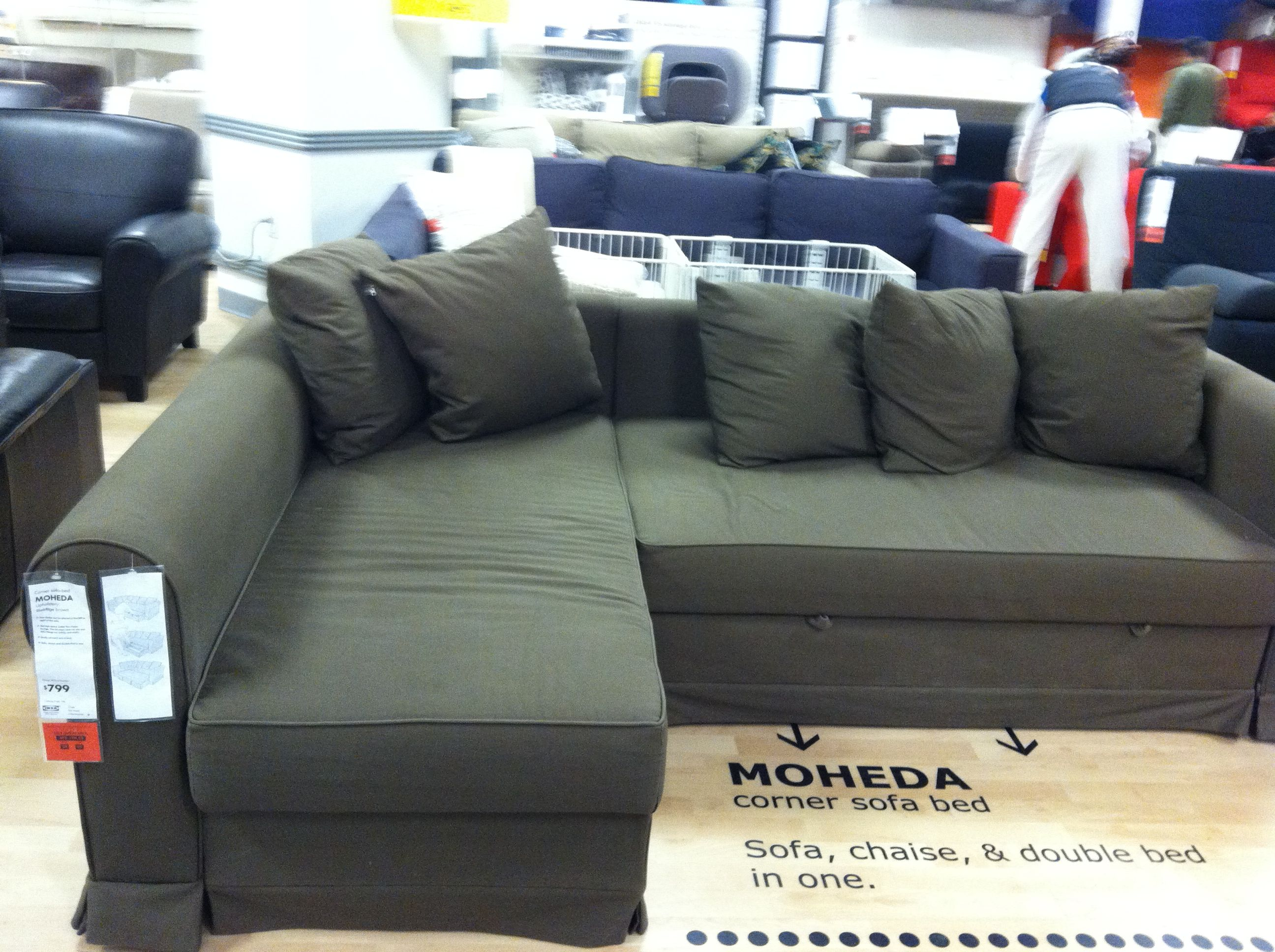 From Ikea classy green sectional Corner sofa bed