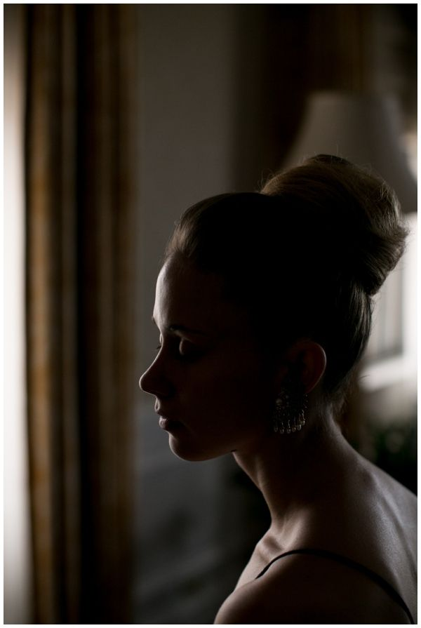 The bride waits for her makeup at the Drake Hotel in Chicago.