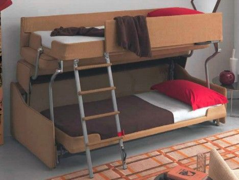 Space Saving Sleepers Sofas Convert To Bunk Beds In Seconds