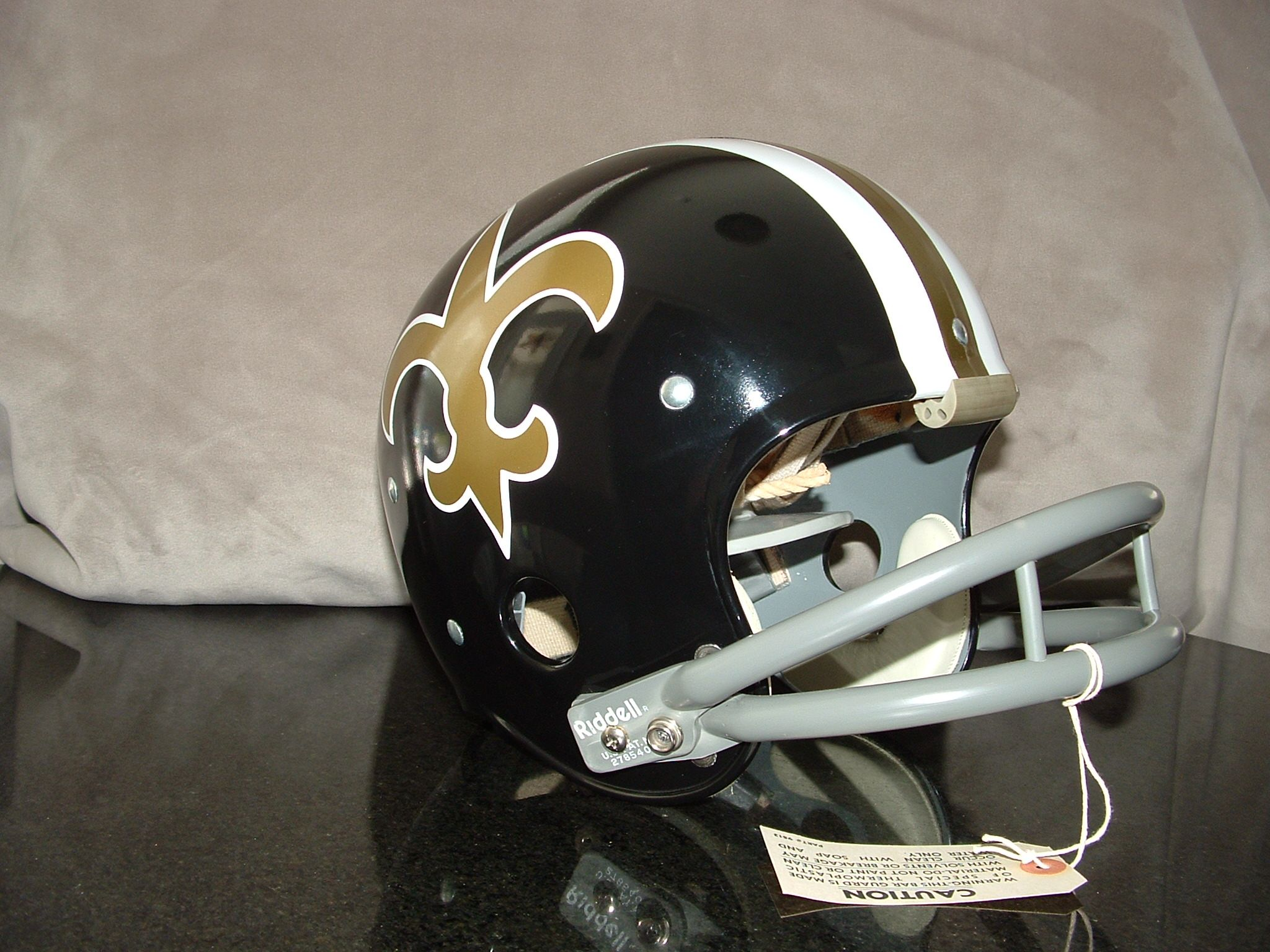 1969 Pre Season Banned Black New Orleans Saints Black Riddell Tk1